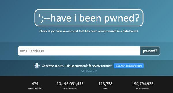 Le site haveibeenpwned.com répertorie les fuites de données comprenant les adresses de courriel et autres...