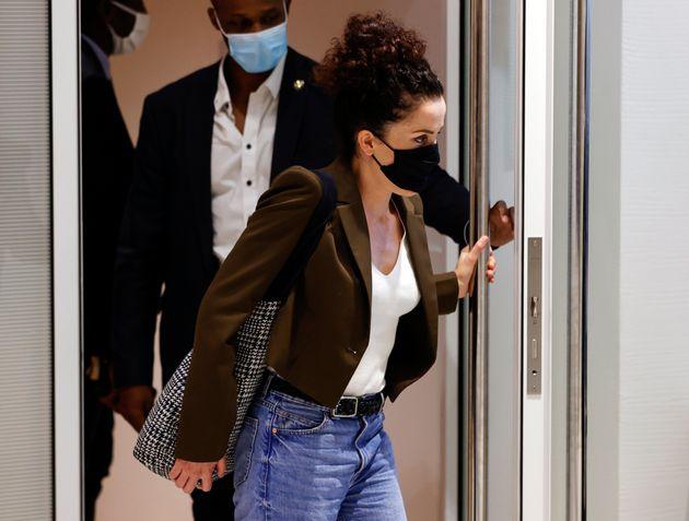 Corinne Rey, ici quittant la salle d'audience du palais de justice de Paris, le 8 septembre