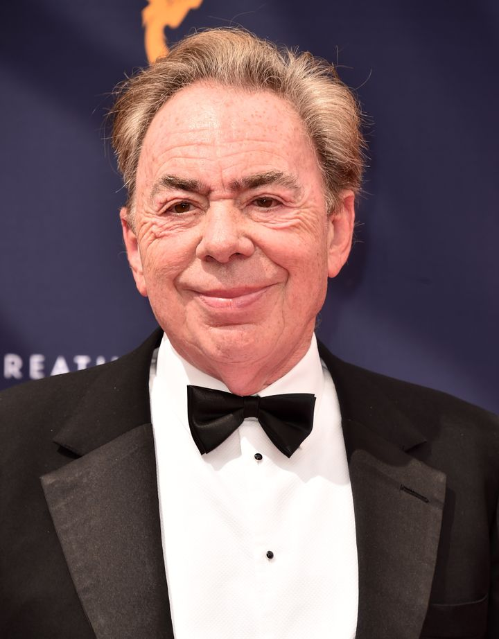 Sir Andrew Lloyd Webber attends the Creative Arts Emmys on Sept. 9, 2018 in Los Angeles.