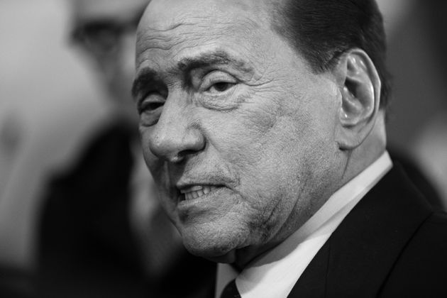 (EDITOR'S NOTE: Image converted to black and white) Former Italian Prime Minister and Forza Italia party...