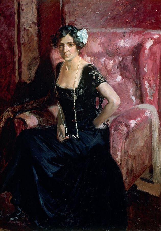 Clotilde García del Castillo, retratada por