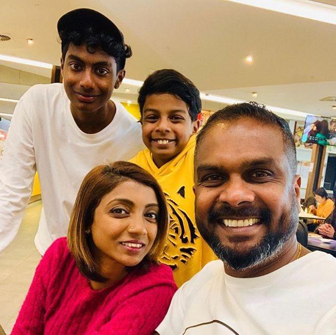 2018 'MasterChef Australia' winner Sashi Cheliah with wife Rabicca and sons Marcus and Ryan