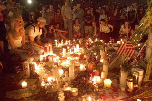 ユニオンスクエアで行われた追悼のキャンドル集会(2001年9月13日)