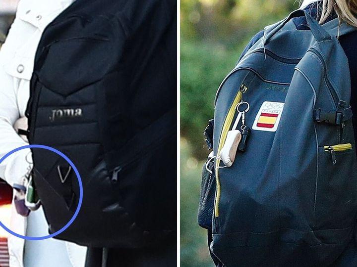 La mochila de Leonor del curso 2020/2021 y la mochila del curso 2019/2020.