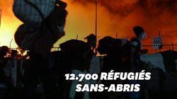 Un incendie détruit le plus grand camp de migrants de Grèce sur fond d'épidémie de