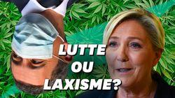 Pour Marine Le Pen, la guerre anti-drogue de Darmanin débouche sur la