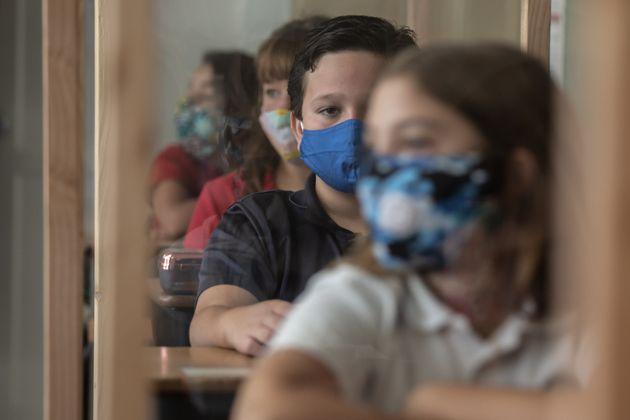 24/08/2020 Il primo giorno di scuola alla High Christian Unified di El Cajon, California. Alla scuola...
