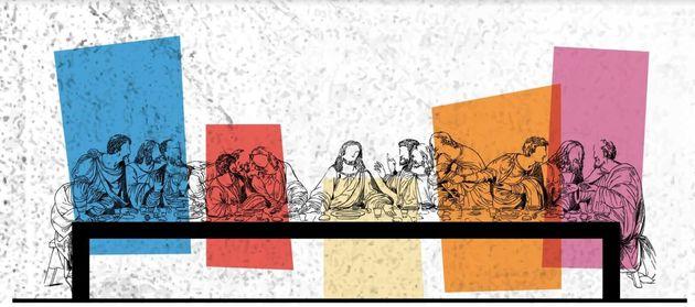 «Alexandre Iolas, The Last Supper»: Ο Ιόλας οικοδεσπότης ενός σουρεαλιστικού
