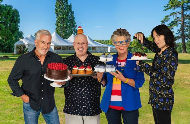 Prue with the rest of the Bake Off team