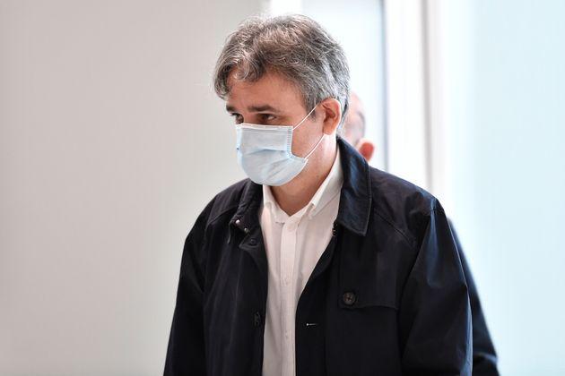 Laurent Sourisseau, dit Riss, au palais de justice de Paris le 9 septembre