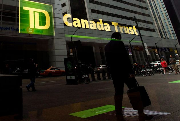 A TD Canada Trust branch is shown in the financial district in Toronto on Aug. 22,