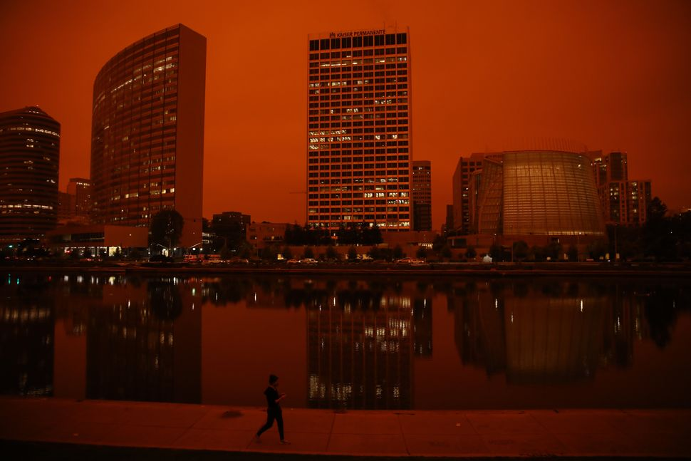 Apocalyptic Orange Haze And Darkness Blanket California Amid