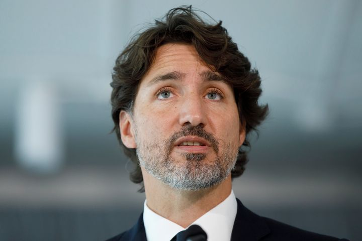 Prime Minister Justin Trudeau speaks during a press conference as he unveils plans for greater support for Black businesses, at HXOUSE in Toronto on Sept. 9, 2020.