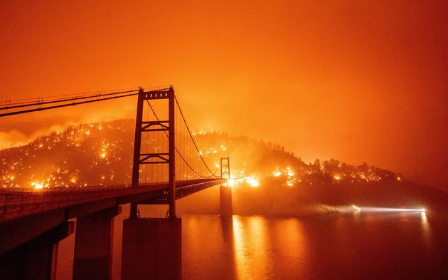 Skies Glow Orange In West Of US As Wildfires Rage