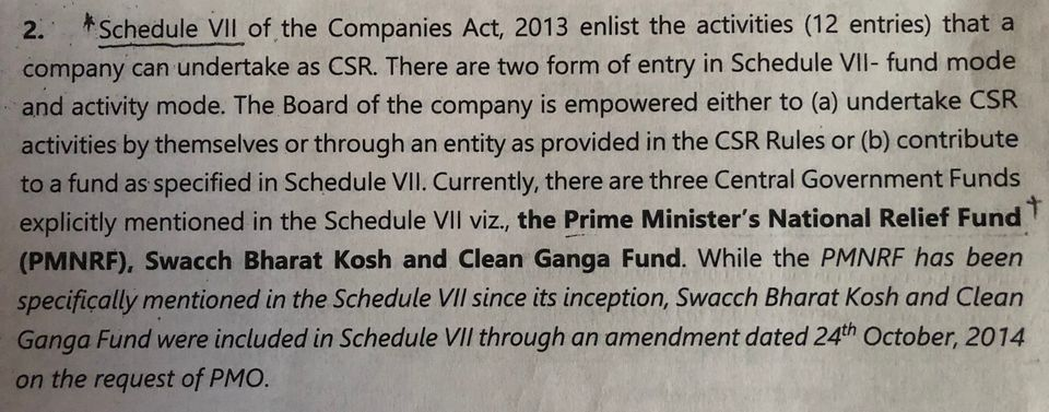 Internal note of the Ministry of Corporate Affairs drafted by Deputy Director Aparna Mudiam in response...