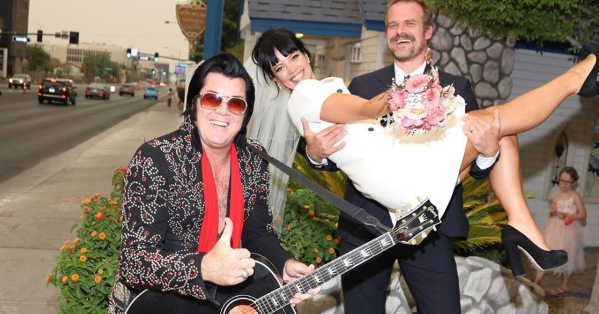Lily Allen's Amazing Wedding To David Harbour Couldn't Be More Vegas If It Tried