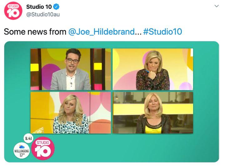 Joe Hildebrand announces he's leaving Studio 10