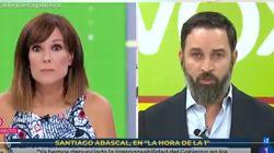 La sorprendente reacción de Mónica López a esta frase de Santiago Abascal en 'La Hora de La