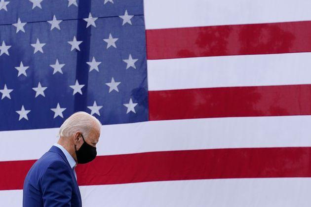 Joe Biden, el 9 de septiembre de 2020, en un acto de campaña en Warren,
