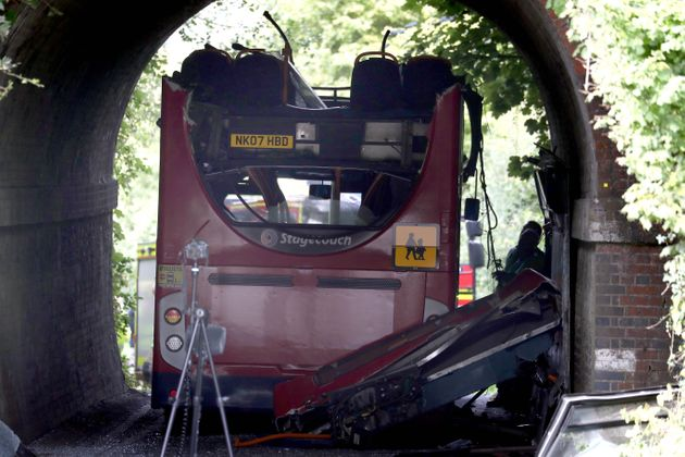Winchester School Bus Crashes Into Railway Bridge Leaving Three Children Seriously Injured
