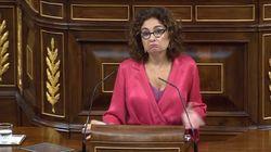 El enfado de María Jesús Montero con los populares:
