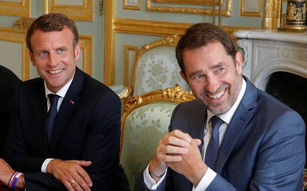 Emmanuel Macron et Christophe Castaner, alors ministre de l'Intérieur, à l'Élysée...