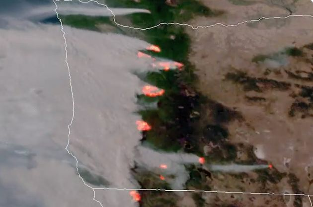 California's Apocalyptic Wildfires Can Be Seen From Space