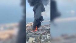 Nuovo vasto incendio al porto di Beirut a un mese dall'esplosione