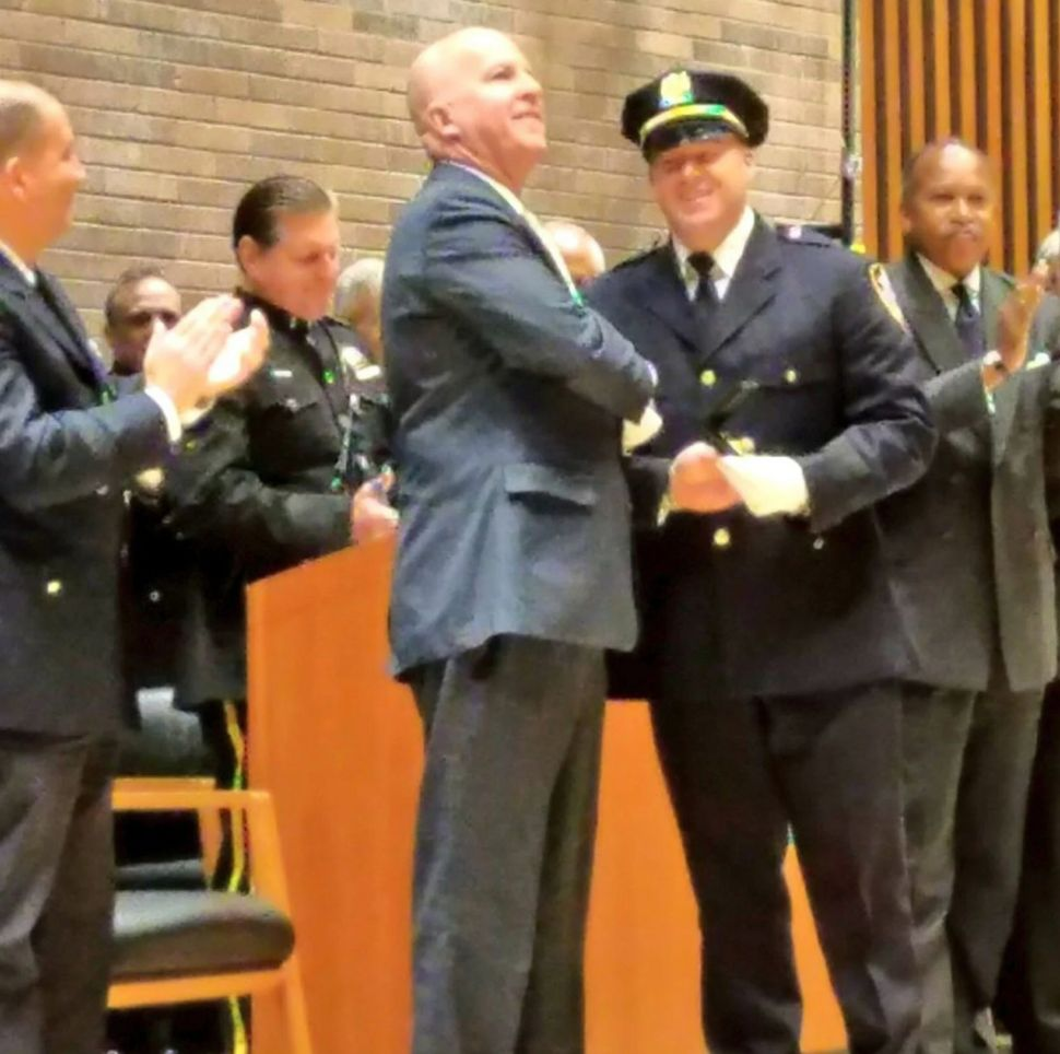 O'Neill and McCormack after his promotion to deputy chief in 2017. (NYPD)