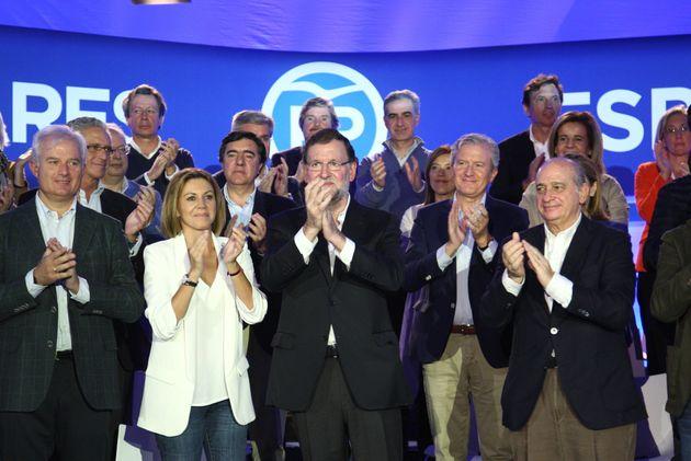 Cospedal, Rajoy y Fernández Díaz en un acto en