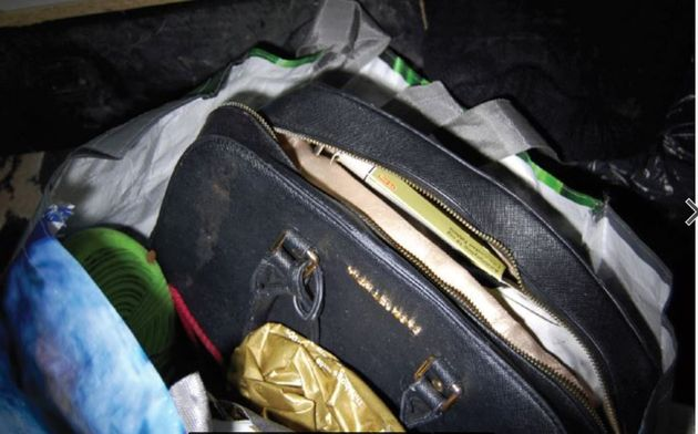 Jan's handbag, which was found in the flat of her killer