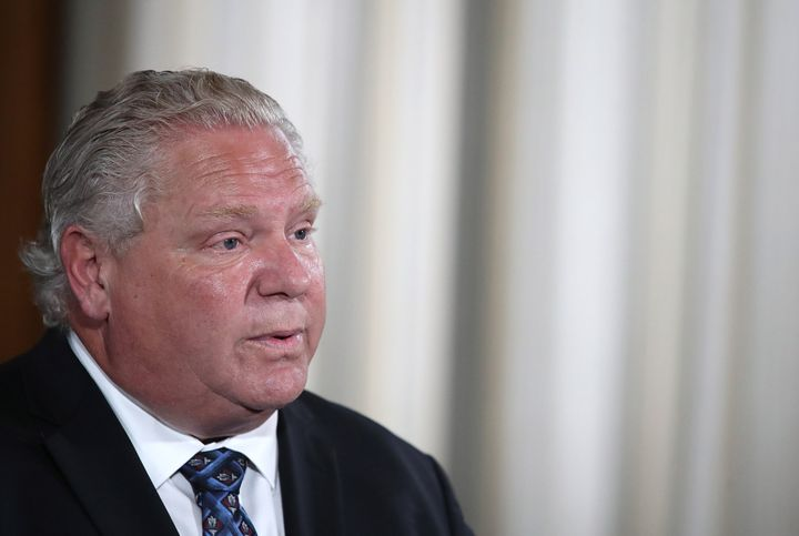 Premier Doug Ford at his daily press briefing on June 23, 2020.