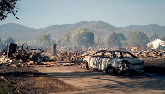 These Photos Show How Raging Wildfires Destroyed US