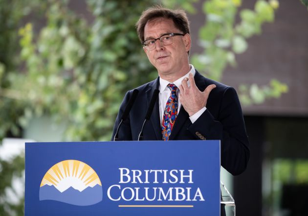 British Columbia Health Minister Adrian Dix speaks during an announcement about a new regional cancer...