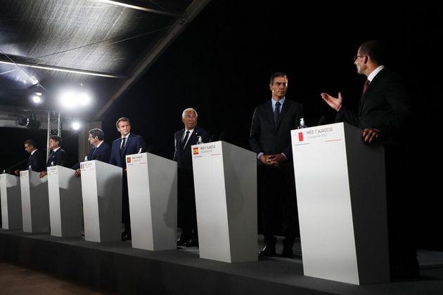 Les dirigeants du MED7, en Corse ce 10 septembre