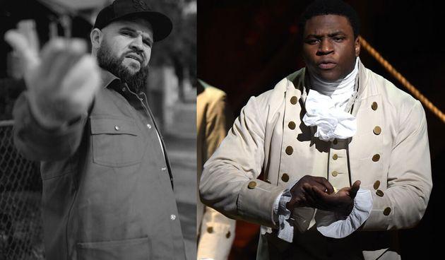 Who else but Yorta Yorta rapper Briggs as Hercules Mulligan, played on Broadway by Okieriete