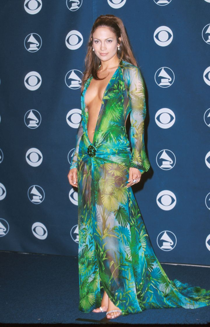 Jennifer Lopez at the 2000 Grammys in an iconic Versace dress