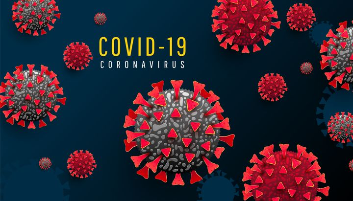 코로나19 바이러스 구조도, 자료 사진.