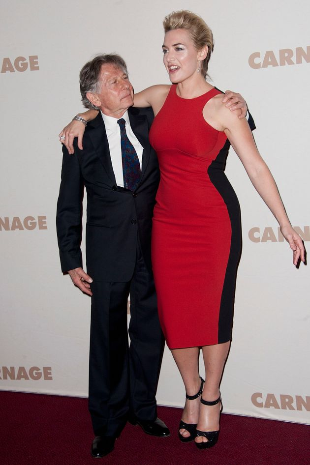 Roman Polanski and Kate Winslet attend the premiere of Carnage at Cinema Gaumont Marignan on November 20, 2011 in Paris.