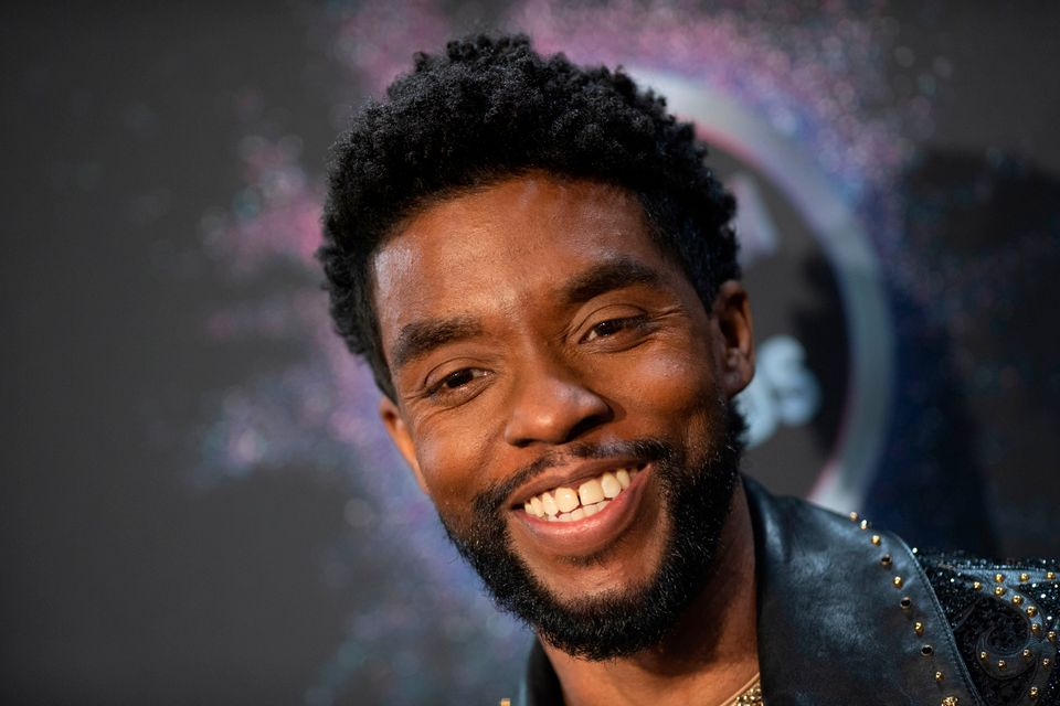 Actor Chadwick Boseman, who played Black icons Jackie Robinson and James Brown with searing intensity before finding fame as