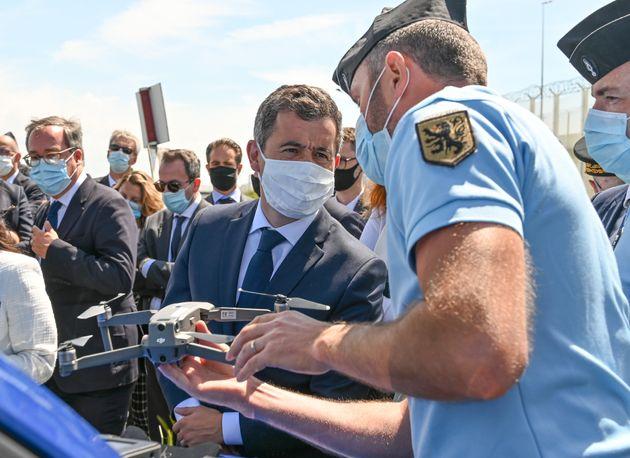 Gérald Darmanin en Juillet 2020 lors d'une visite à Calais. (Photo DENIS CHARLET /