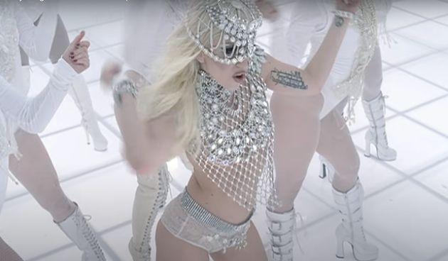 Lady Gaga in the Bad Romance music video