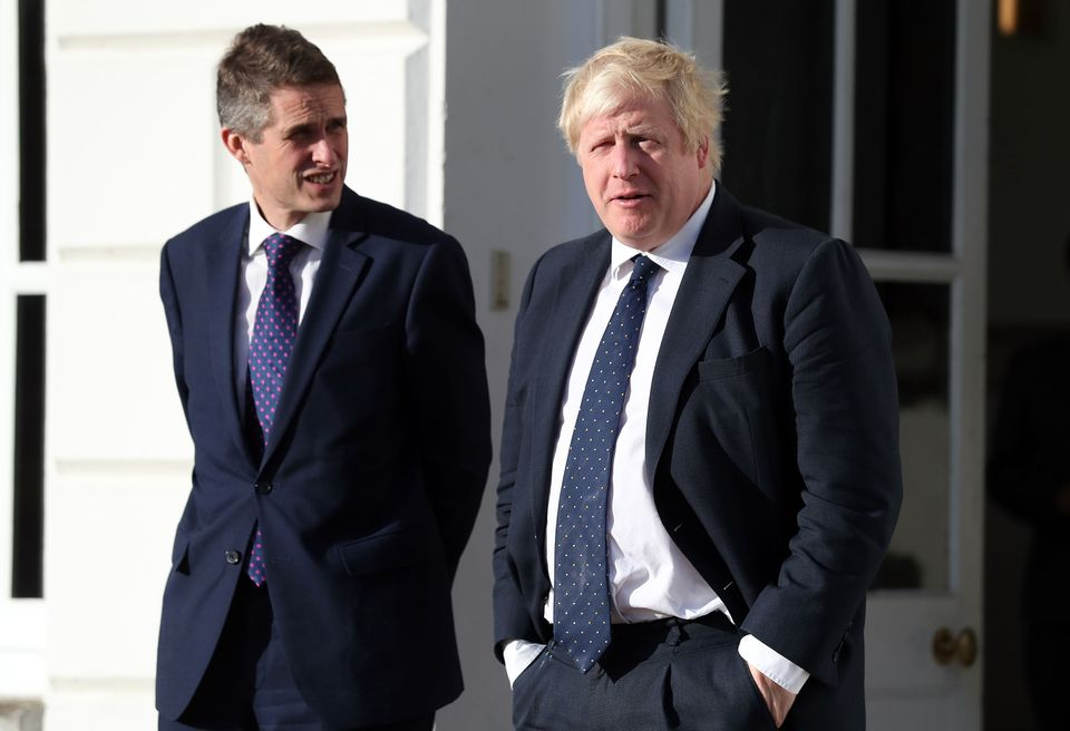 Boris Johnson and Gavin Williamson as foreign and defence secretaries ahead of a meeting with Japanese