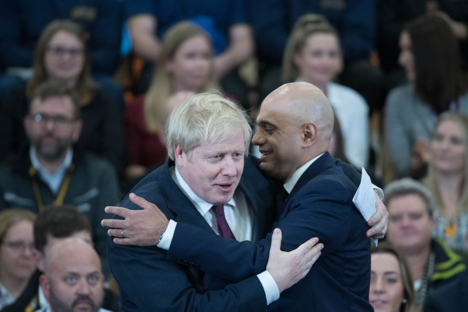 Johnson and Javid during December's election