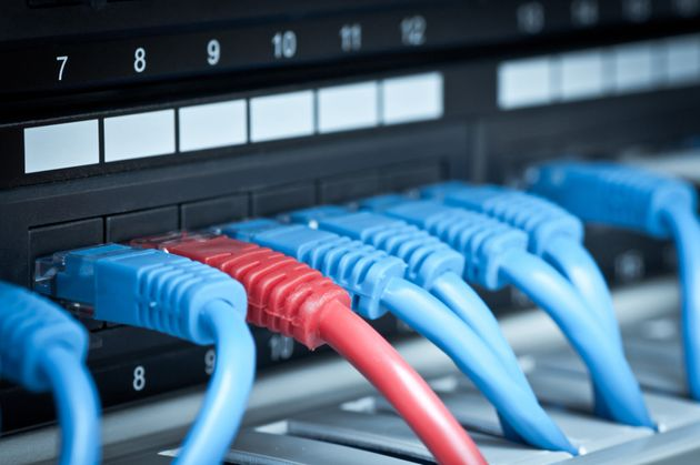 A close-up view of an internet network hub is seen here in a stock image.A recent court ruling...