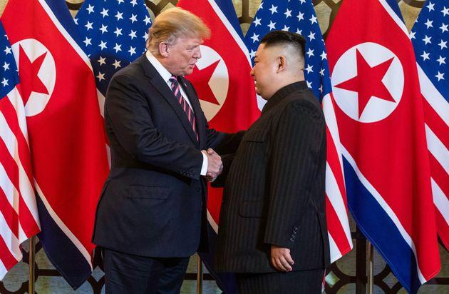 Donald Trump et Kim Jong à Hanoi au Vietnam, le 27 février
