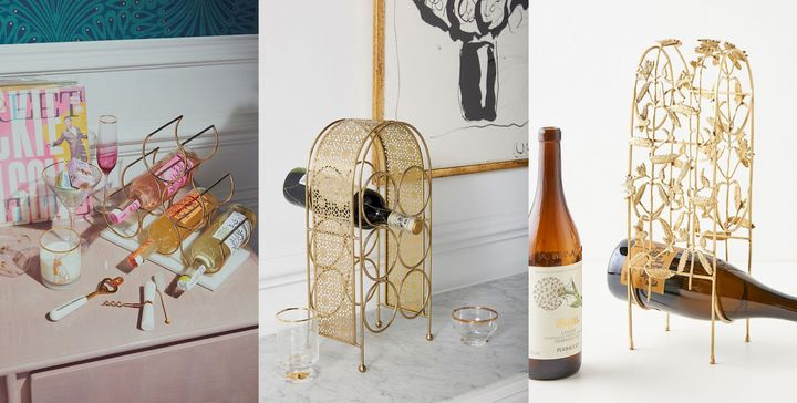Cheers to these small, but cute, countertop wine racks🍷