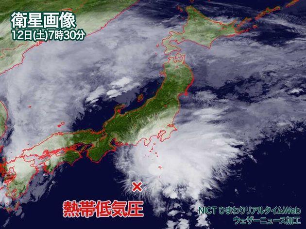 衛星画像 12日(土)7時30分 NICT
