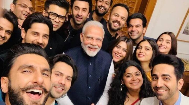 Modi's infamous selfie with Bollywood