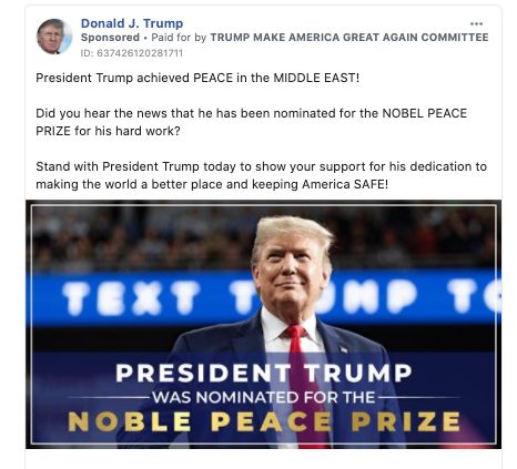 Trump Campaign Hails Nobel Peace Prize Nomination With An Awkward